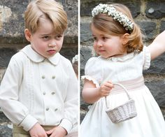 Only Prince George and Princess Charlotte could trump a highly anticipated royal wedding with one single look.