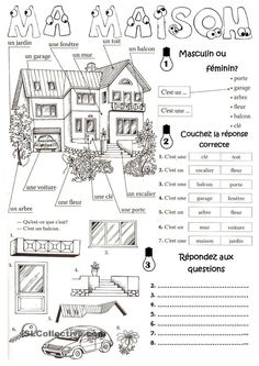 Teach Your Child to Read - Ma maison en français - vocabulary for parts of the house in French - Give Your Child a Head Start, and.Pave the Way for a Bright, Successful Future. French Learning Games, French Teaching Resources, Teaching French, French Language Lessons, French Language Learning, French Lessons, Foreign Language, French Tips, French Flashcards