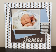 Newborn Stats by slane2 - Cards and Paper Crafts at Splitcoaststampers