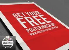 Free Poster Mock Up PSD   Designers Best Friend