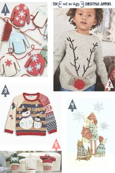 lily&Bloom . ten { not so ugly } christmas jumpers . { christmas jumper cookies to bake from @peggyporschen via @weddingmagazine . cute jumpers for your little Ones from @nextofficial . a lOvely illustration by @emmablock . & . jumper egg cosies to knit by @debbiebliss } .