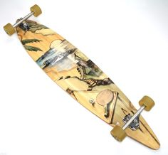 """Sector 9 complete 46"""" bamboo pintail longboard Gullwing trucks 70mm 75A wheels #Sector9"""