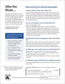 Talking with Parents about Vaccines - Handouts for Patients and Healthcare