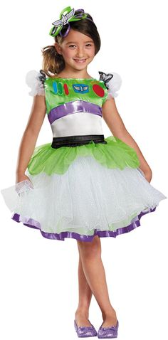 Prestige Buzz Lightyear Tutu Girls Costume - Toy Story Costumes
