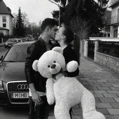 Love | Kiss | Teddy | Cuddle | Black and white | Care | Emotion | Attachment | Cuddle | Couple | Relationship | Love forever | Life goals