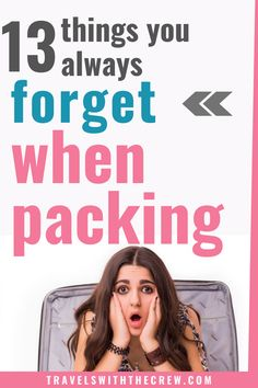 The 13 things you always forget to pack for a trip – Travels With The Crew Packing Tips For Vacation, Travelling Tips, Travel Packing, Vacation Travel, Suitcase Packing, Europe Packing, Traveling Europe, Vacation Deals, Backpacking Europe