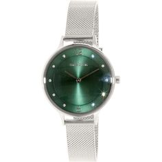 'Anita' Crystal Index Mesh Strap Watch, Green Skagen, Stainless Steel Case, Cool Watches, Quartz Watch, All In One, Band, Crystals, Stylish, Silver