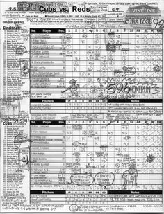 How To Score a Baseball Game With Pencil and Paper