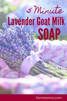 Lavender Goat's Milk Soap- Heavenly Soap in Five Minutes! Have you considered making your own DIY soap at home? Goat milk has so many benefits for your skin, it would be crazy not to consider making goat milk soap at home! This lavender goat's milk soap Diy Soap At Home, Home Made Soap, The Farm, Diy Tumblr, Method Soap, Homemade Soap Recipes, Lavender Soap, Glycerin Soap, Castile Soap