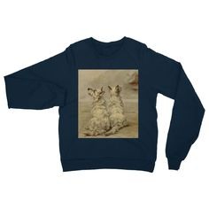 Earl, Maud (1864-1943) - The Power of the Dog 1910 (West Highland White Terrier) Heavy Blend Crew Neck Sweatshirt