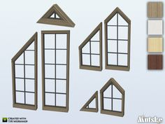 This set is Part 2 of the Bungalow windowset. The set contains 7 triangle windows to create a windowwall on the addic or whatever you want to make. You do need to use bb.moveobjects to place the...