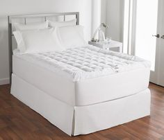 Hollander Ultimate Cuddlebed Mattress Topper, 400 Thread Count, Twin XL Hollander http://www.amazon.com/dp/B0053O6ZYI/ref=cm_sw_r_pi_dp_Ib3Svb0S883BF