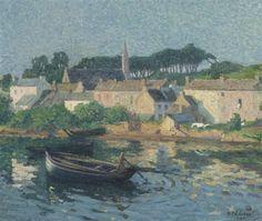"Raymond Thibesart (1874-1968) ~ ""Matin à Pouldavid près de Douarnenez"""