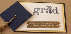 Items similar to Handmade Graduation Card or Invitation or announcement on Etsy
