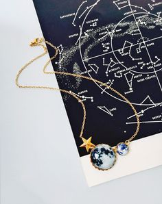 The View From Here Limited Edition Moon Necklace — Eclectic Eccentricity Vintage Jewellery