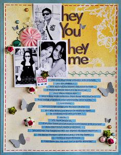 I plan on doing something like this with the song lyrics from Jeremy's proposal song. :)