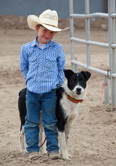 Down on the Farm ~ A boy and his Dog by Kimberly Beer