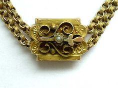 Victorian Choker Necklace - Slider Pendant on Double Book Chain