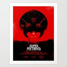 Super Metroid Art Print by Ian Wilding - $17.00. I drool over this texturing skills!