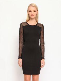 Γυναικείο φόρεμα με διαφάνεια Χρώμα: Μαύρο Troll, High Neck Dress, Model, Black, Dresses, Fashion, Turtleneck Dress, Mathematical Model, Gowns