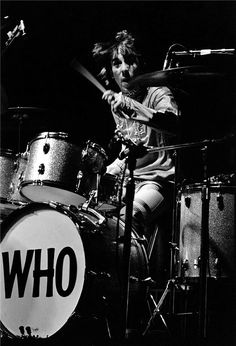 Keith Moon at the Monterey Pop Festival, 1967.  Elaine Mayes.