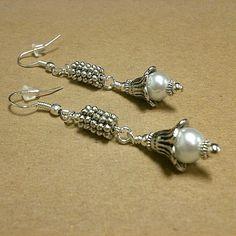 Pearl Earrings June Birthstone Wedding Jewelry Silver by cdjali, $16.00