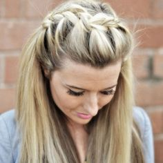 Learn how to do a simple and beautiful Draped French Braid!