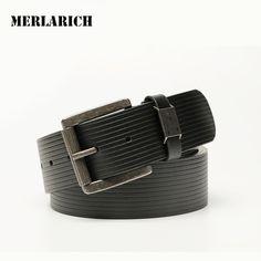 MERLARICH Brand Genuine Leather Belt Military Mens Belts Luxury Jeans Male Belt Men Ceinture Dress Designed Freeshipping