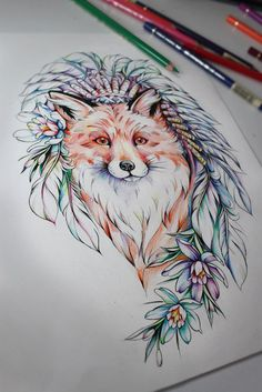 Ao se inspirar nos animais e nas flores, Olga Koroleva cria delicadas tatuagens…