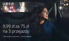 Groupon - 9,99 zł zamiast 75 zł na 3 przejazdy z Uber na terenie Warszawy, Krakowa, Trójmiasta, Wrocławia lub Poznania. Groupon deal price: 9,99zł