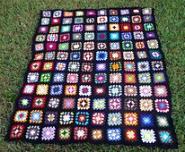 """Ravelry: kathy862's """"Roseanne"""" Granny Square Afghan"""