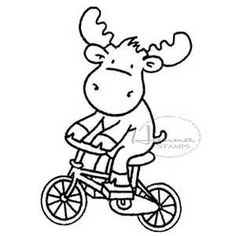 Hanna Stamps Moose Bicycle