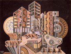 Fortunato Depero, The New Babel (Scenario plastico mobile), 1930.