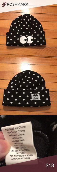 Lazy Oaf polka dot beanie Lazy Oaf Polkadot beanie with eye logo. Lazy Oaf Accessories Hats