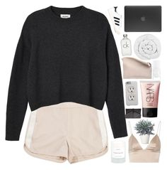 """me and my boyfriend."" by dont-go-to-sleep ❤ liked on Polyvore featuring Tommy Hilfiger, Monki, Calvin Klein, Sabrina Zeng, T By Alexander Wang, MANGO, NARS Cosmetics, The Fine Bedding Company, Byredo and adidas Originals"