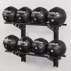 Rogue Swiss Brackets offer gym owners a simple way to set up a customized, wall-mounted medicine ball rack in virtually any size training space. Get yours today!
