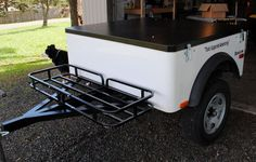 Dinoot #1 with it's reworked HF 500 lb hitch cargo rack installed