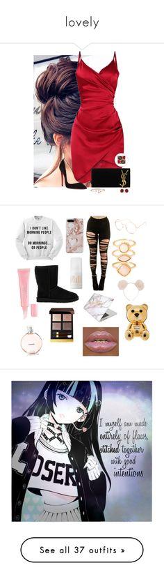 """lovely"" by butterpecanskfav ❤ liked on Polyvore featuring Allurez, Christian Louboutin, Yves Saint Laurent, UGG Australia, Recover, Full Tilt, Monsoon, Christian Dior, Hot Topic and MILK MAKEUP"