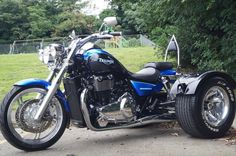 Has it got drive shaft? Trike Motorcycles, Sidecar Motorcycle, Sportster Motorcycle, Motorcycle Design, Custom Motorcycles, Triumph Thunderbird 1600, Custom Trikes, Biker Quotes, Cars Motorcycles
