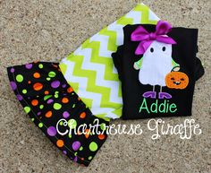 Girly Ghost Girls Halloween Ruffle Pants by ChartreuseGiraffe, $47.00