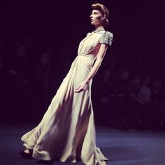 From the Jenny Packham show on Monday. Photo by the WSJ's Elizabeth Holmes.