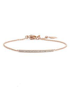 rose gold pave bar bracelet