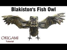 Origami Blakiston's Fish Owl tutorial (Katsuta Kyohei) 折り紙 フクロウ   оригами учебник Рыбный филин - YouTube