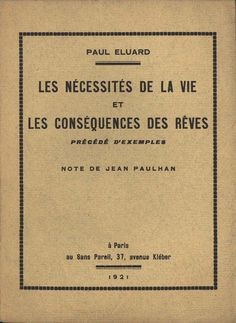 Life's Necessities and Consequences of Dreams | Paul Éluard