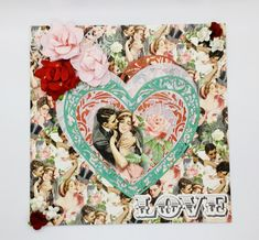Beautiful vintage valentines card, all handmade with premium quality paper. Twenties couple in love hearts of lace paper and handmade paper. Card measures x and is complete with an envelope. Valentine Heart, Valentine Gifts, Vintage Valentine Cards, Pretty Roses, Paper Roses, Couples In Love, New Home Gifts, Vintage Fashion, Vintage Style