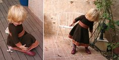 """Spin-a-round-dress, free pattern, 32"""" or 40"""" circular needles us 3 and 4 - Pickles"""