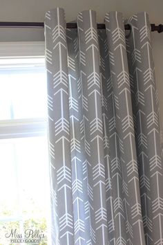 Lined drapes in arrow fabric by Miss Polly's Piece Goods https://www.etsy.com/shop/MissPollysPieceGoods