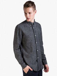 Our Legacy Hemd 1940` Shirt Black Chambray