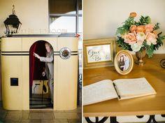 Terranea Resort Wedding | Peach Flowers | Vintage Photo Booth | Josh Elliott Photography | Sugar Branch Events