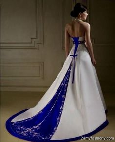 Dresses Make your prom night memorable in white and royal blue wedding dresses! You're now equipped with everything you need to know about making your prom Wedding Dressses, 2016 Wedding Dresses, White Wedding Dresses, Bridal Dresses, Wedding Gowns, Bridesmaid Dresses, Dresses 2016, Blue Dresses, Azul Royal